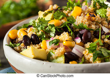 Homemade Southwestern Mexican Quinoa Salad with Beans Corn...