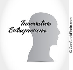 innovative entrepreneur thinking brain sign illustration...