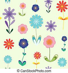 flowers summer pattern seamless