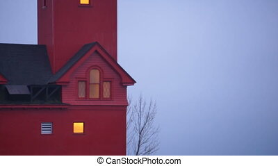 The Red Lighthouse Lake Macatawa Holland Michigan Great...