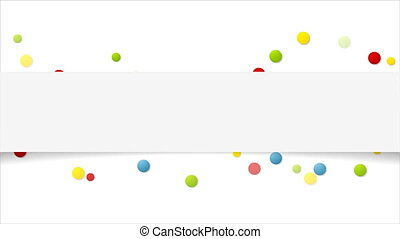 Colorful paper circles abstract video animation - Colorful...