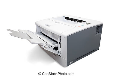 Laser office printer Isolated on white with clipping path