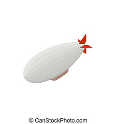 Airship icon, isometric 3d style - Airship icon in isometric...
