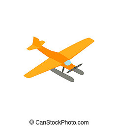 Hydroplane icon, isometric 3d style - Hydroplane icon in...