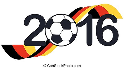 lettering 2016 with german national colors - lettering 2016...