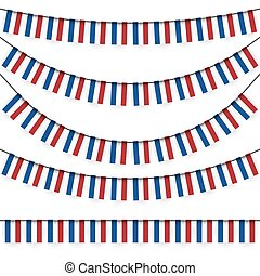 garlands with dutch national colors - different garlands...