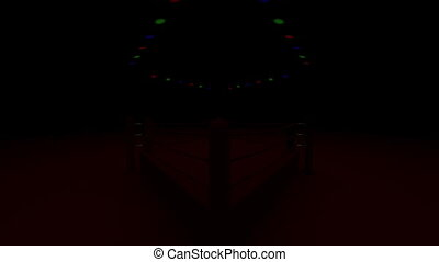 Boxing Ring - Turn Boxing Ring On Red Light 3DCG render...