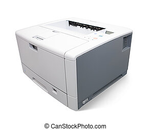 Laser office printer. Isolated on white with clipping path