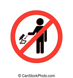 Keep clean icon. Do not litter sign