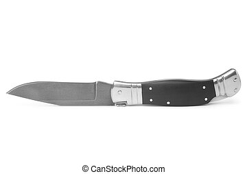 Clasp knife on white background