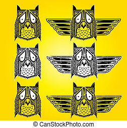 Ornamental ethnic indian style owl vector illustration