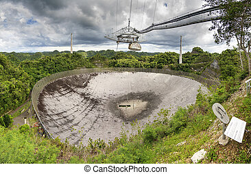 Radio Telescope Arecibo - The Arecibo Observatory radio...