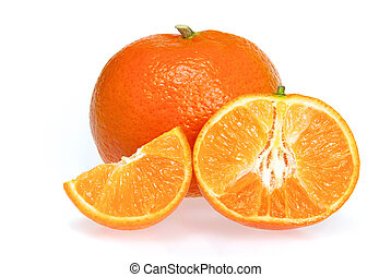 Mandarine freigestellt - tangerine isolated 12