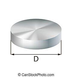 Steel disc industrial metal object