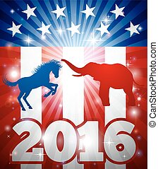 2016 American Election Concept - Concept for the...