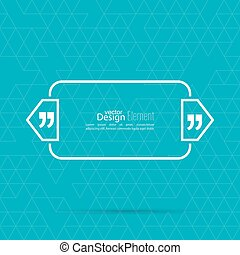 Quotation Mark Speech Bubble Quote sign icon Empty template...