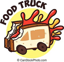 Food Truck Bread Jam - Wheels on Meals of bread with jam...