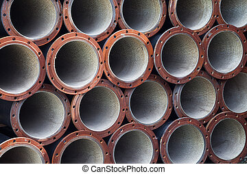 Industrial steel pipes background