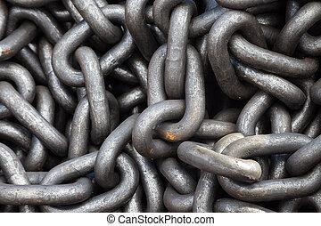 cadena,  metal, montón, textura