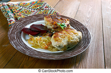 Lithuanian chicken cutlets - Kotletas jurate - Lithuanian...