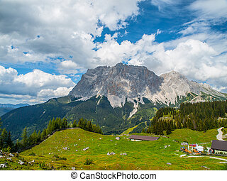 View of the Zugspitze from Austria - Zugspitze, the highest...