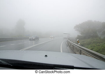 Driving in fog and bad weather