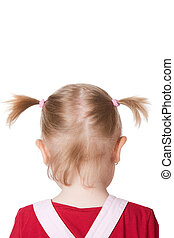 little girl with pigtails - the little girl with pigtails