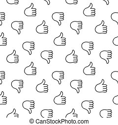 Thumb up seamless pattern. Vector illustration. EPS 10.