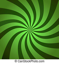 Green Burst Twist - Funky abstract green background...