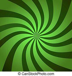 verde, explosión, Torsión