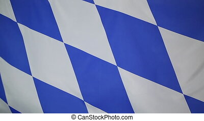 Flag of Bavaria, Germany - Textile flag of Bavaria, Germany...