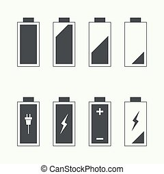 Icons battery charge indicator Vector For mobile and web...