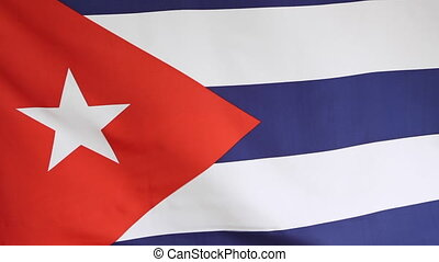 National flag Cuba in slow motion - Closeup of a national...