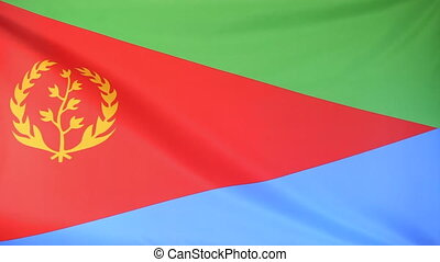 Flag of Eritrea - Textile flag of Eritrea moving in the wind