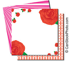 Greetings card with roses and backg
