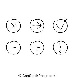 Set icons. Vector illustration.