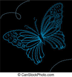 Background with blue butterfly