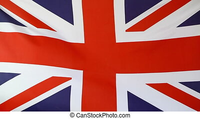 United Kingdom flag - Fabric flag of United Kingdom moving...