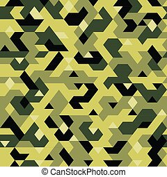 Imprimir - vector seamless pattern in camouflage style,...