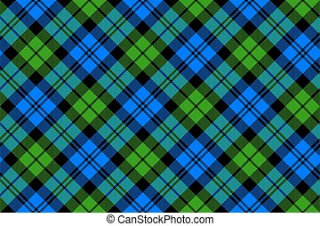 Black Watch milytary tartan diagonal seamless .Vector...