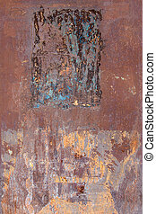 Rusty and Scratched Metal Texture - Detail of the rusty and...