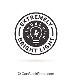 Extremely bright and powerful light bulb icon symbol design....