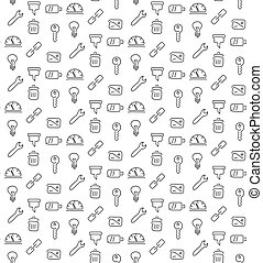 Technical tools pattern seamless. Vector illustration. EPS...