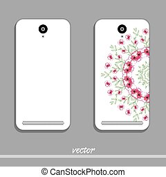 Phone Cover Floral Ornament