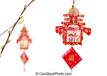 Chinese Lunar New Year tree decoration - Chinese Lunar New...