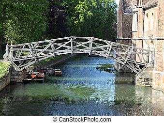 "The ""mathematical bridge\"" over the river cam at Cambridge...."