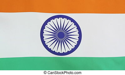 Closeup national flag of India - Closeup of the national...