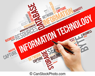 informazioni, parola, tecnologia, nuvola