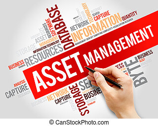 Asset Management word cloud, business concept