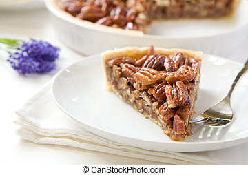 Pecan Pie Slice - Pecan Pie slice without whipped cream